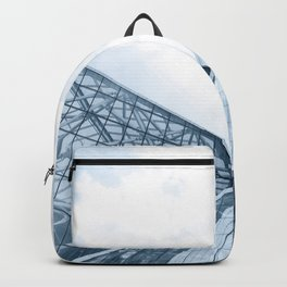 Teal Glass Building Backpack