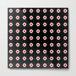 stars 47- red and white Metal Print