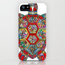 Colorful Sea Turtle Abstract Mandala iPhone Case