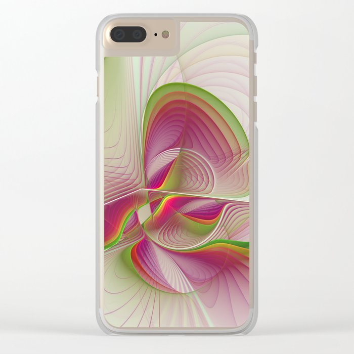 Another Colorful Beauty Abstract Fractal Art Clear iPhone Case