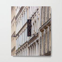 Paris Amour Metal Print