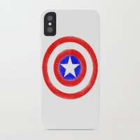 agents of shield iPhone & iPod Cases featuring Shield (W) by Luca Draws