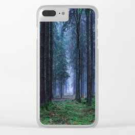 Green Magic Forest - Landscape Nature Photography Clear iPhone Case