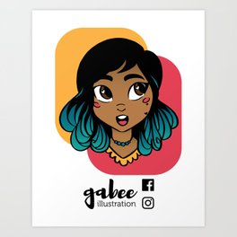 Gabee Illustration Art Print