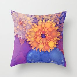 Vintage Flowers in the rain Throw Pillow