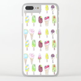 Watercolor. Ice cream . i Clear iPhone Case