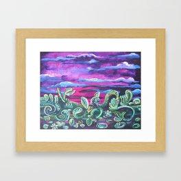 Sunset in a Way Framed Art Print