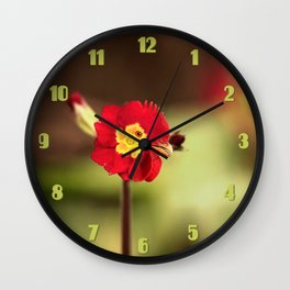 Funny Rooster Flower Wall Clock