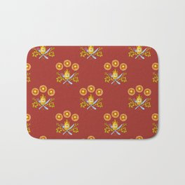 Waffle and Syrup (Strawberry Jam Crimson) Bath Mat