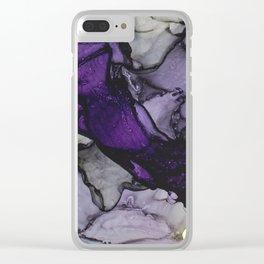 Purple Stream Clear iPhone Case