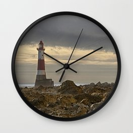 Beachy Head Lighthouse And Foreshore Wall Clock