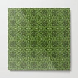 Greenery Star Flower Metal Print