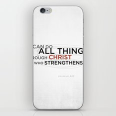 Philippians 4:13 II iPhone & iPod Skin