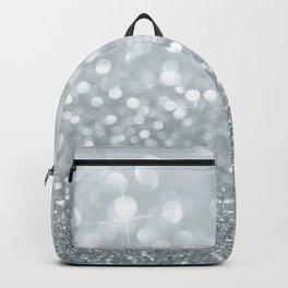 White & Silver Glitter Sparkle Backpack