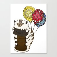 appa Canvas Prints featuring Appa tied to Balloons by nsvtwork