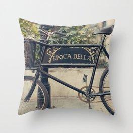 La Bella Epoca, La Belle Epoque, Vintage Bicycle  Throw Pillow