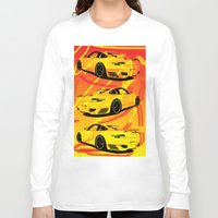 porsche Long Sleeve T-shirts featuring Porsche  by deadfish