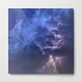 Multicolored cloud with thunderstorms Metal Print