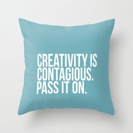 Creativity is Contagious  Throw Pillow
