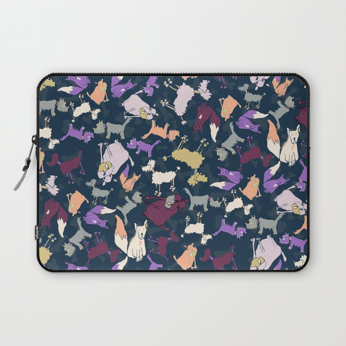Wonky dogs Laptop Sleeve by craftwithcartwright