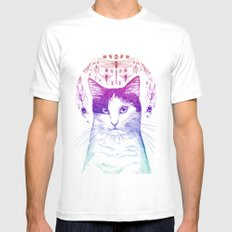 Of cats and insects Mens Fitted Tee White MEDIUM