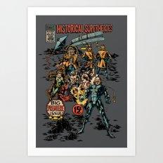 Historical Superheroes Art Print