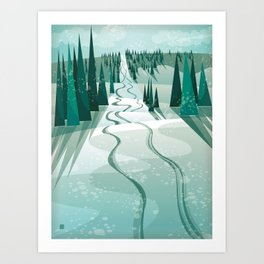 Winter Slope Art Print