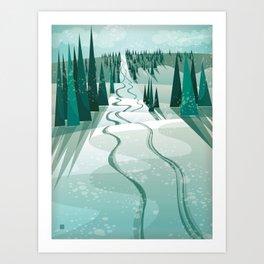 Winter Slope Art Print