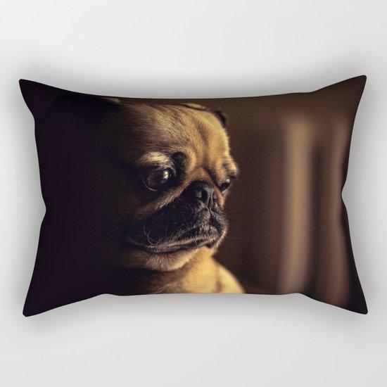 Cute Pug Dog Rectangular Pillow