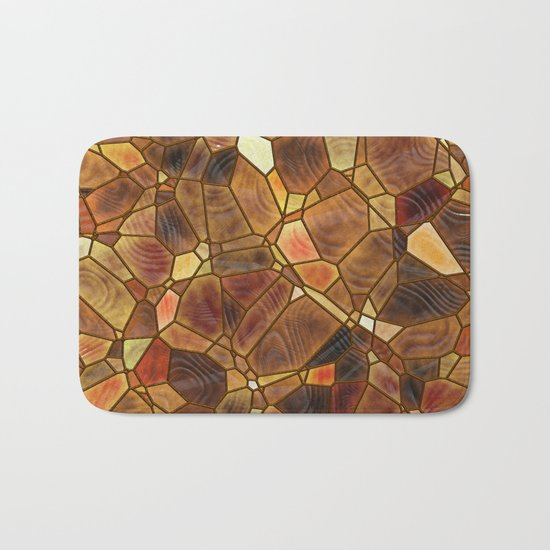 Stained Glass - Copper Bath Mat