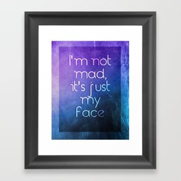 Bitchface Framed Art Print