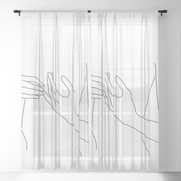 Line Hands 2 Sheer Curtain