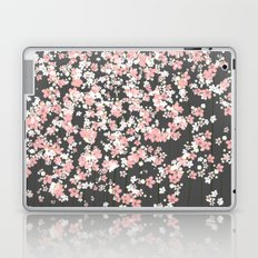 Black background Pink Shidare Zakura Laptop & iPad Skin