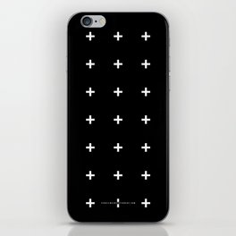 White Plus on Black /// www.pencilmeinstationery.com iPhone Skin