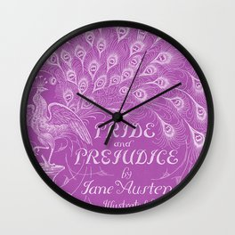 Pride and Prejudice - Plum Wall Clock