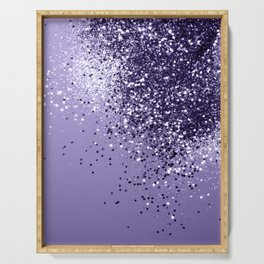 ULTRA VIOLET Glitter Dream #1 #shiny #decor #art #society6 Serving Tray