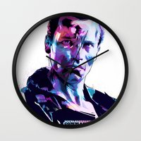 arnold Wall Clocks featuring Arnold Schwarzenegger: BAD ACTORS by Largetosti