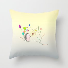 spread the love like this hedgehog Throw Pillow