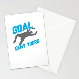 My Goal Is To Deny Yours Soccer Goalie/Goalkeeper Stationery Cards