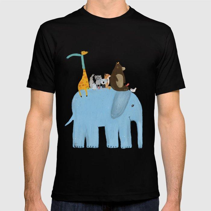 065fab9b0 the big blue elephant T-shirt by bribuckley