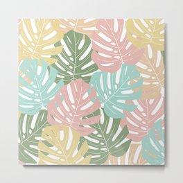 Monstera leaf colors Metal Print