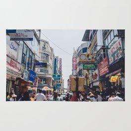 Streets of the Market, Colombo, Sri Lanka Rug