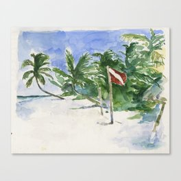 Beach, Tulum, Mexico Canvas Print