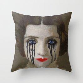 Crying woman Throw Pillow