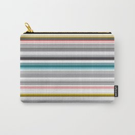 grey and colored stripes Carry-All Pouch