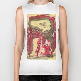 Ice Cream and Cigarettes Modern Abstract Fine Art Biker Tank