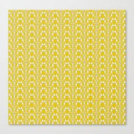 Snow Drops on Mustard Yellow Canvas Print