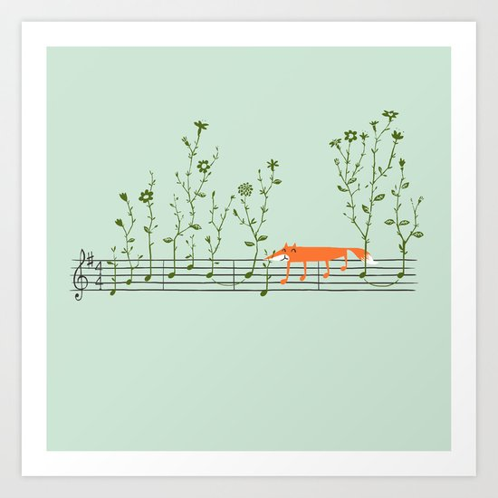 Happy Tune Art Print