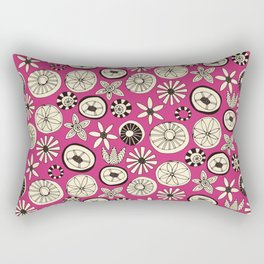 summer flowers pink Rectangular Pillow