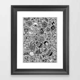 heaps of heads Framed Art Print